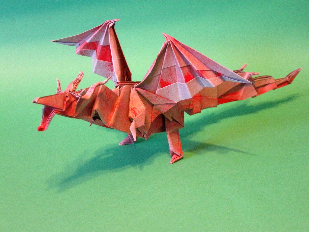 FIERY DRAGON Diagram (1 of 8) Paper Origami | Origami instructions ... | 768x1024