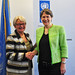 Helen Clark and Marie-Josee Jacobs, Minister for Development Cooperation of Luxembourg