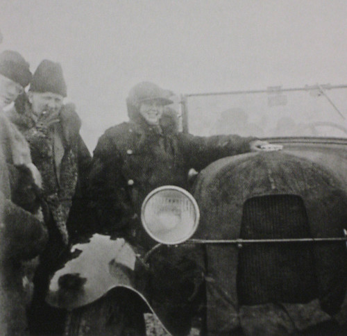 Wilhelm Kratz and Wilhelm Hauss with driver, Siberia 1931 (photo by Ernst May) | by RossWolfe