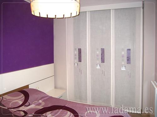 Panel japon s en dormitorio moderno modelo tamesis for Panel japones moderno