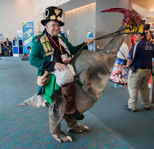 Steampunk Guy Riding A Dinosaur | by uncle_shoggoth