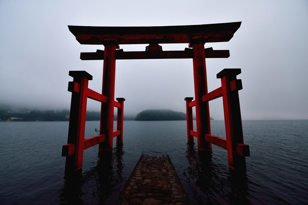 One or more torii gates mark the approach and entrance to a shrine They come in various colors and are made of various materials Most torii however are made of