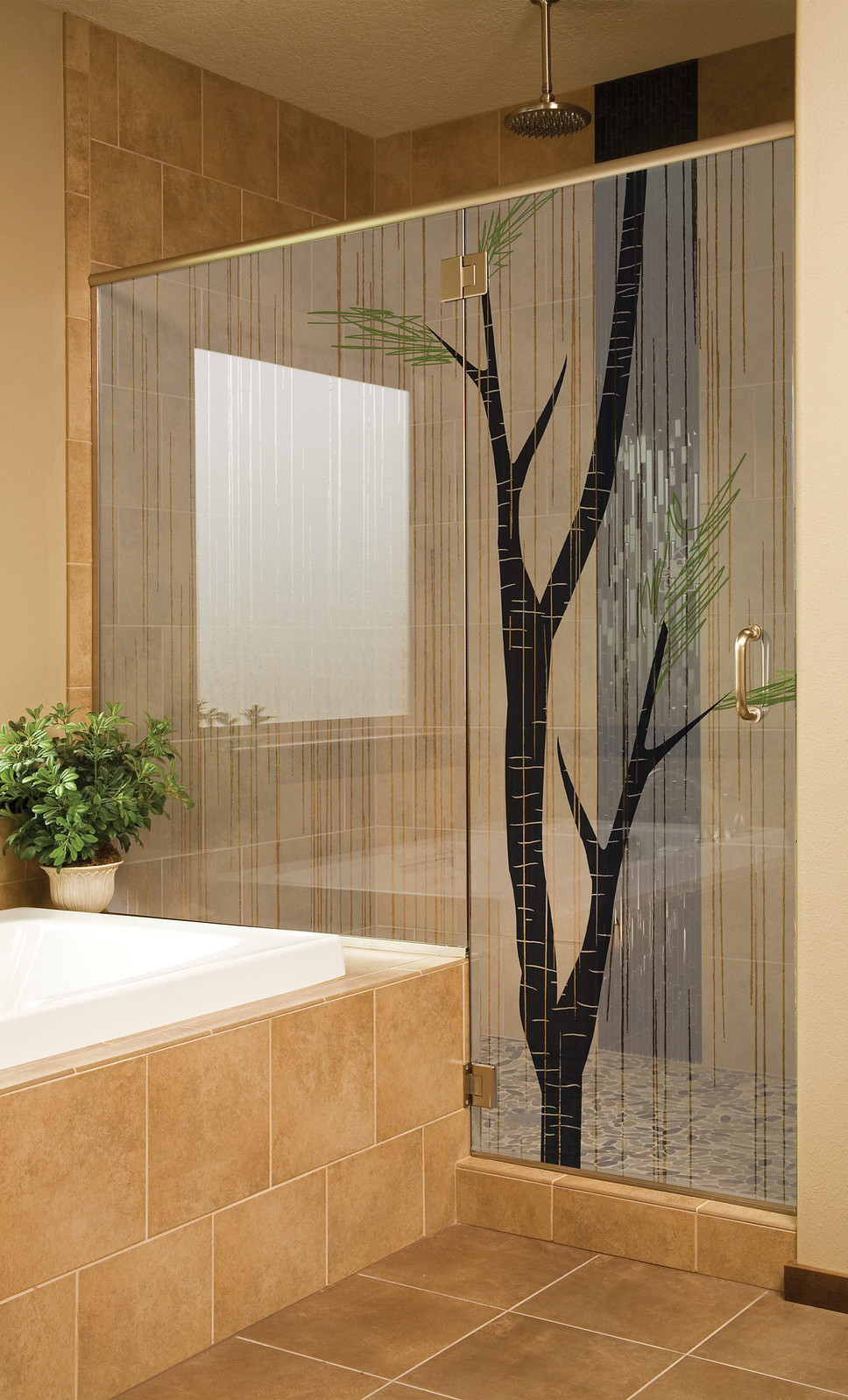 Hd glass residential showers backsplashes flickr for Hartung glass industries