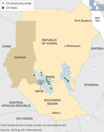 Border areas between Sudan and South Sudan where the proliferation of oil resources is a major cause for conflict. The South Sudan government recently withdrew from the Heglig oil fields after international condemnation. | by Pan-African News Wire File Photos
