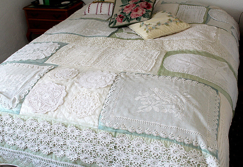 Doily Quilt Over The Years I Have Collected Doilies From