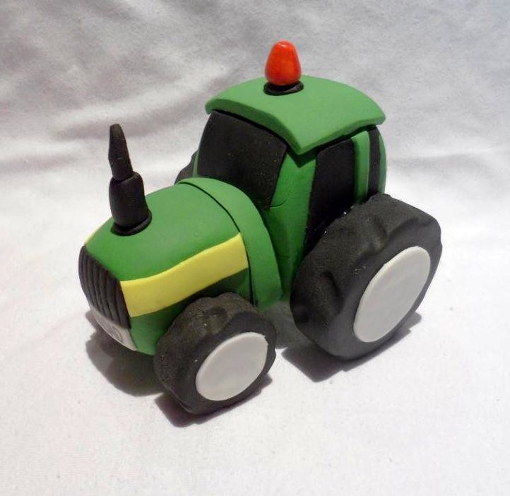 Handcrafted Edible Cake Topper - Tractor | Visit me and ...