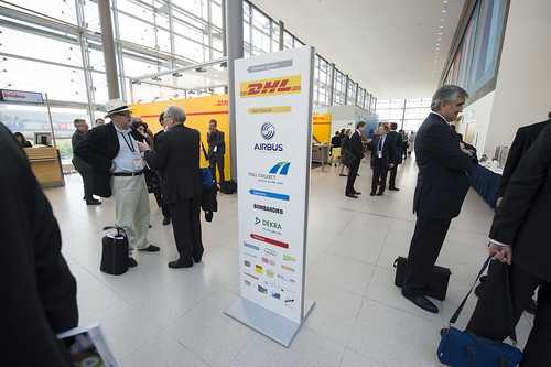 Exhibition Stand Transport : Delegates at the dhl stand exhibition
