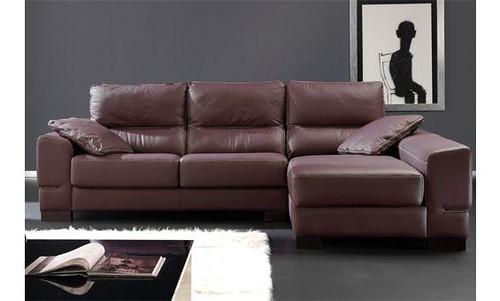 Sofas granfort con chaise longue derecha todo piel natural for Sofas de piel con chaise longue