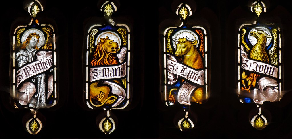 Chedzoy West Window Symbols Of The Evangelists Flickr