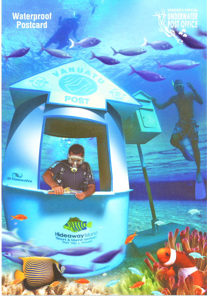 underwater post office  hideaway island  vanuatu