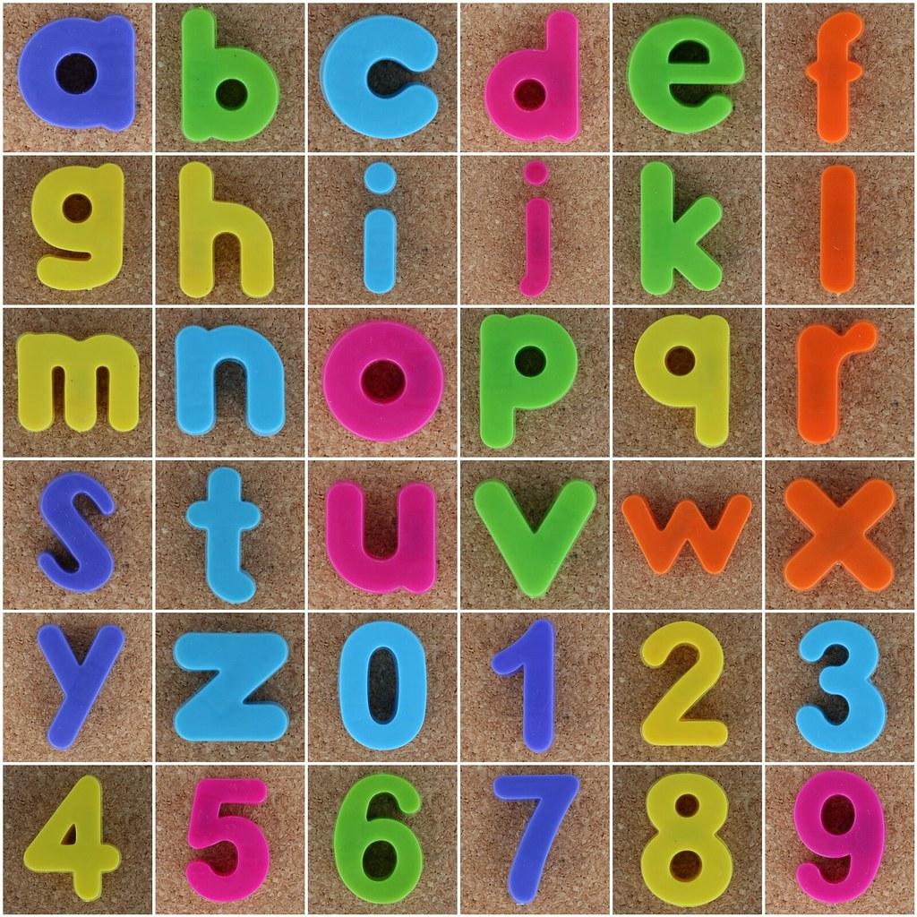 Magnetic Alphabet Letter Font