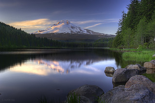 Mt Hood reflection @ Trillium Lake | by sumit-roy