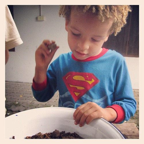 Planting the seeds: Superman gives us a hand. | by journeymama