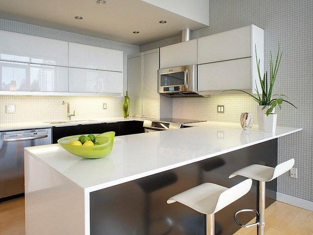 Kitchen cabinets makers - Modern Condo Kitchen Flickr Photo Sharing
