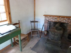 Stove and two chairs