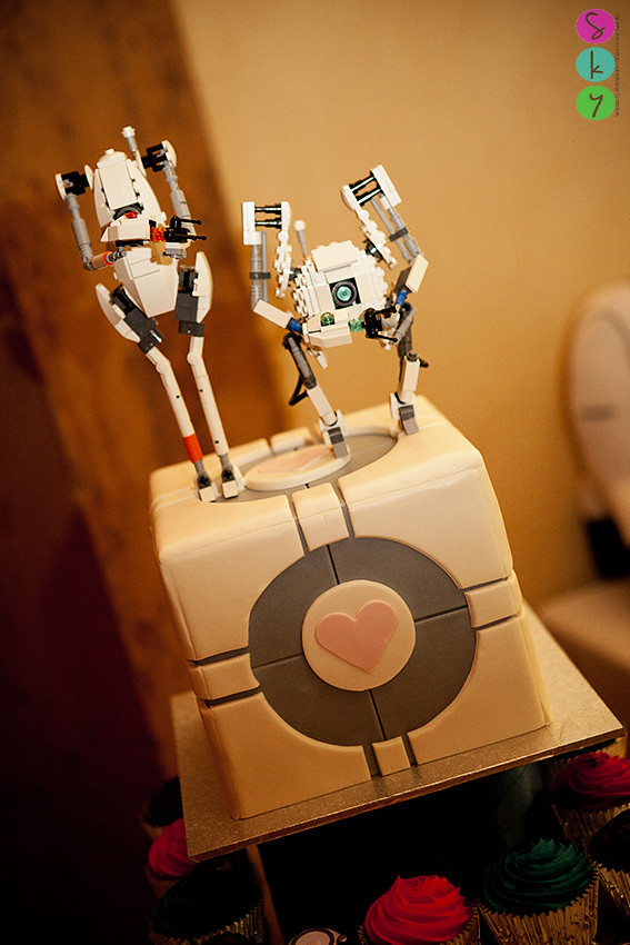 portal 2 wedding cake portal cake atlas amp p lego wedding cake toppers 18697