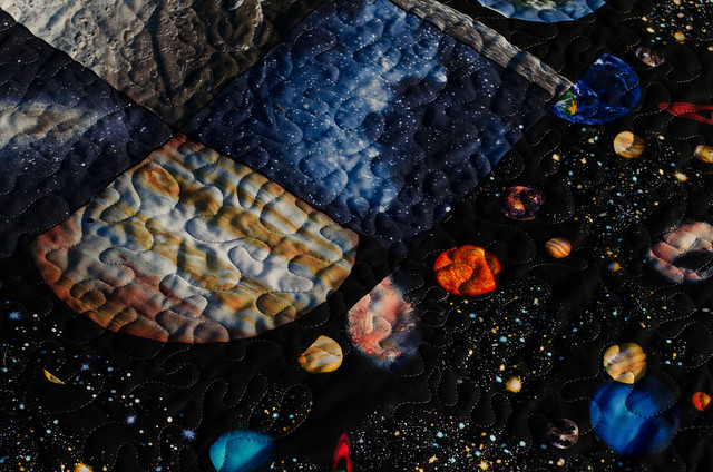 Space quilt more quilting flickr photo sharing for Spaceship quilt