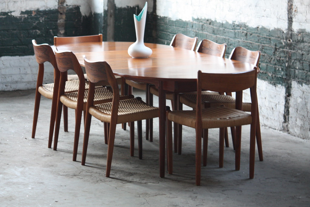 Danish modern dining furniture - Handsome Hans Wegner Danish Expandable Mid Century Modern Flickr