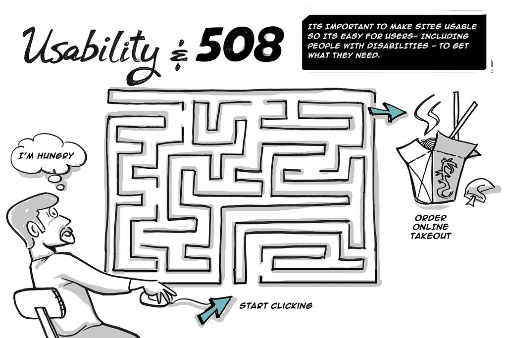 usability and 508 cartoon its important to make sites