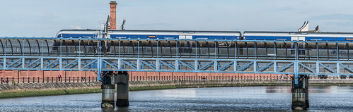 LAGAN RAILWAY PLUS PEDESTRIAN BRIDGE IN BELFAST [TWO FOR THE PRICE OF ONE]--121118 | by infomatique