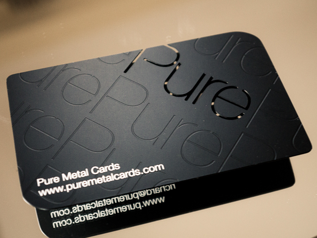 Pure Metal Cards | Matte black metal business card | Pure Metal Cards ...