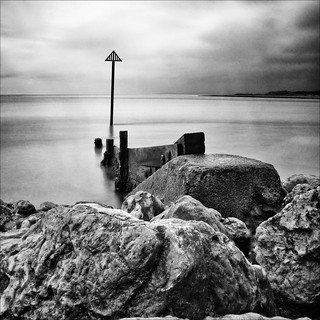 Rocks ...... with groyne | by Petur