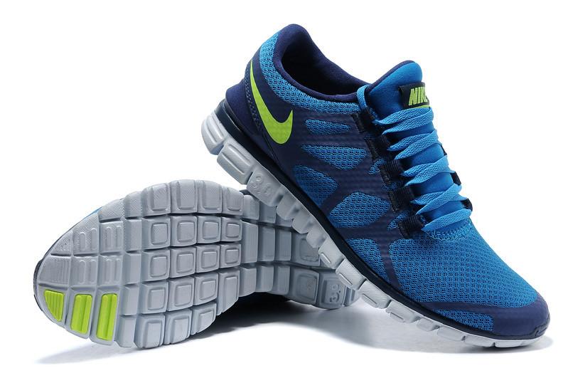 71c7eb2da21 ... Mens Nike Free 3.0 v3 Blue Green