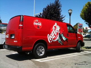 Coca-Cola Chevy Express flex fuel van in El Cerrito, California | by coketrucks