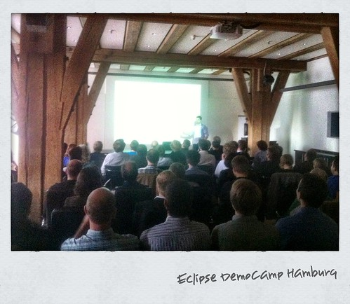 Eclipse DemoCamp #Hamburg: crowded house with Marcel of Code Recommenders. | by peterfriese