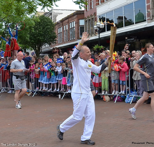 "The Olympic Flame comes to Carlisle | by Pensioner Percy,Off ""Ticker Repairs"""