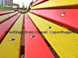 Benches on Superkilen | by Sandra Hoj / Classic Copenhagen