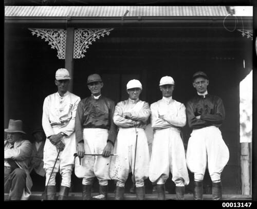 Portrait of jockeys at a clubhouse | by Australian National Maritime Museum on The Commons