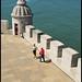 Tourists Are Always Part Of The Scene - Torre de Belém Lisbon N9286e