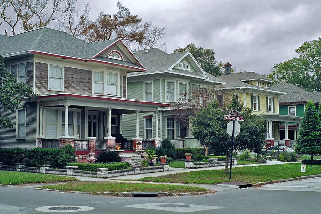 Neighborhood Scene Riverside Jacksonville Fl Street