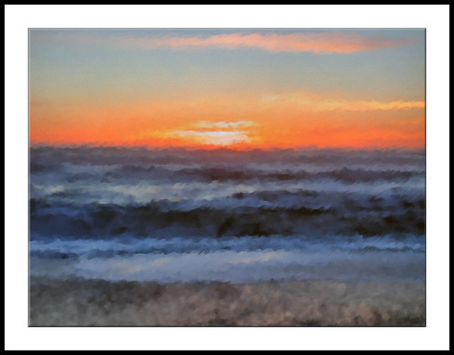 Sunset at Rialto Beach - Painting | by Paddrick