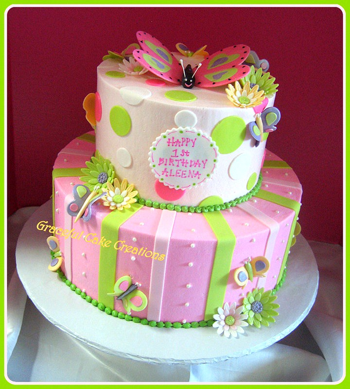 Butterflies And Daisies Birthday Cake Grace Tari Flickr
