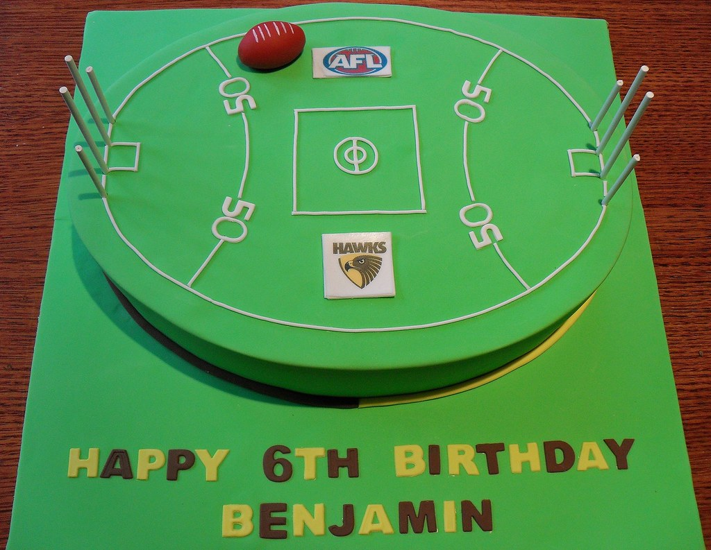 Afl Football Oval Birthday Cakes
