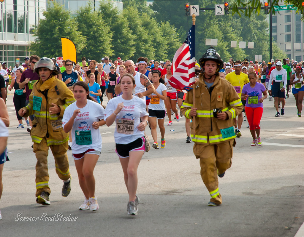 Peachtree road race t shirts over the years for The peachtree