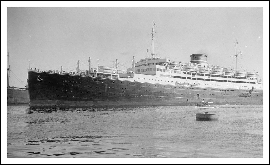 The Italian Line Cruise Ship Saturnia Berthed At Port Flickr - 1930s cruise ships