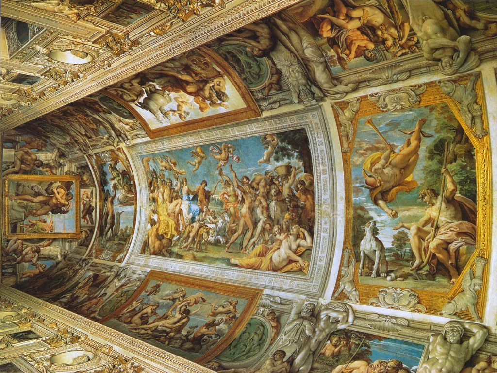 caracci vs pozzo ceiling frescoes