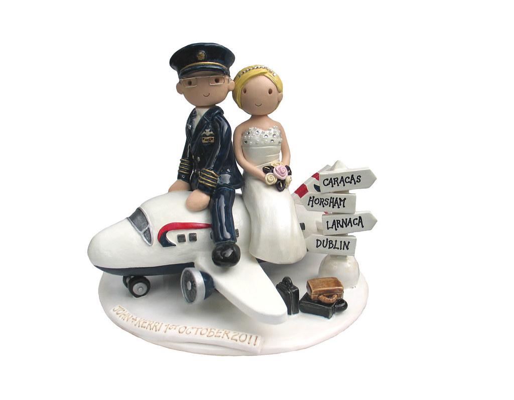 Airplane Cake Topper Wedding