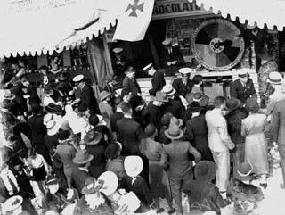 Chocolate Wheel at the Ambulance stall, Exhibition Ground, Brisbane, 1938 | by State Library of Queensland, Australia
