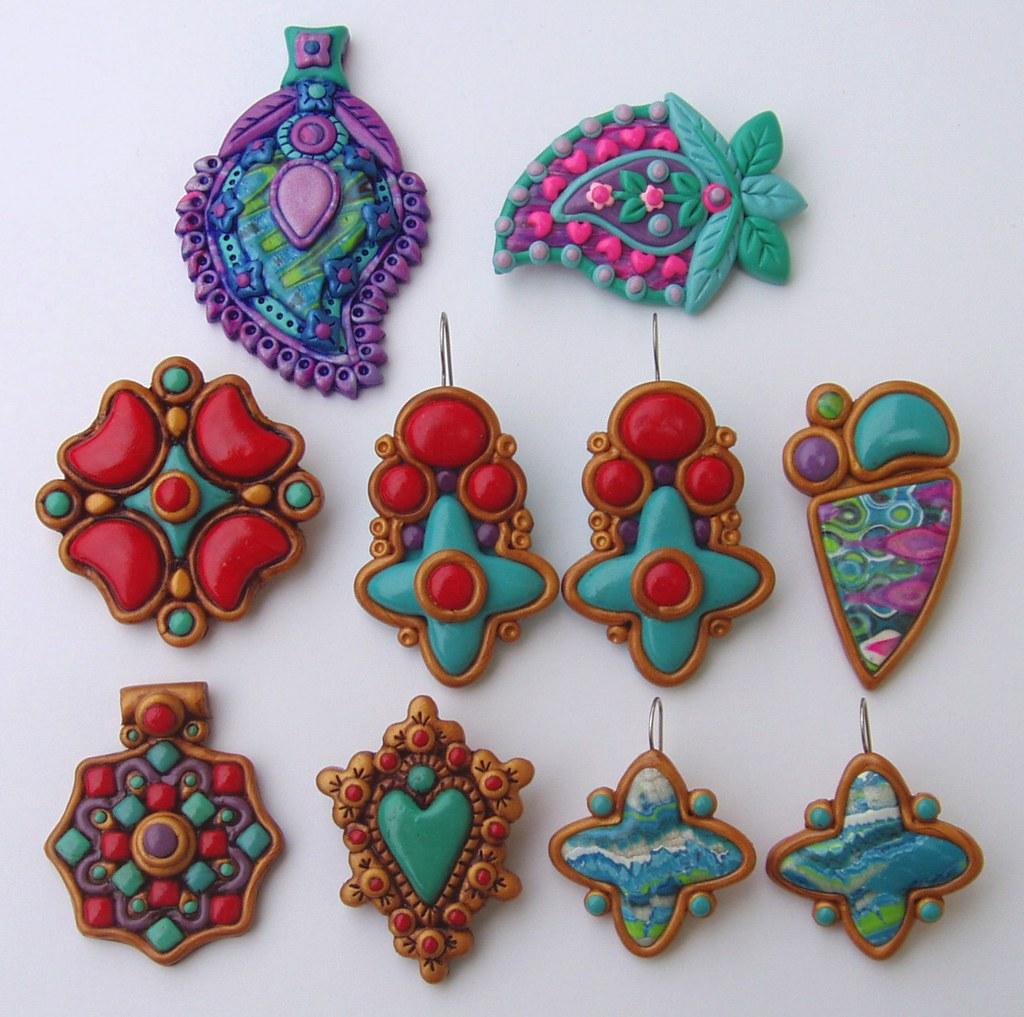 Polymer Clay Charm Bracelet: Polymer Clay Jewelry