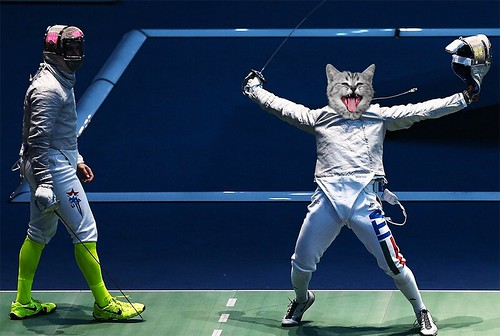 Cat Olympics - Fencing | by nlongtin