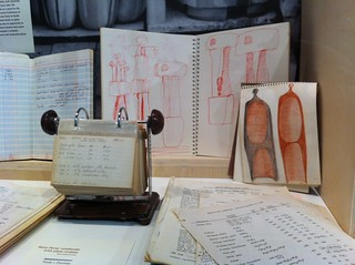 Betty Feves' sketchbooks and glaze notes at the show | by susanstars