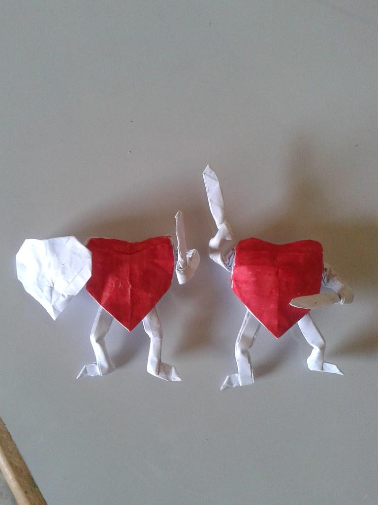 Corazon Origami Corazon Origami Junior Javier Vivanco Garcia - Origami-corazn