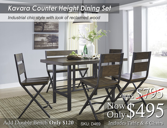 Kavara Counter Height Dining Set D469