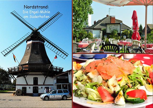 Nordstrand Wattenmeer Süderstrand Engel-Mühle ... September 2016 / Fotos und Collagen: Brigitte Stolle