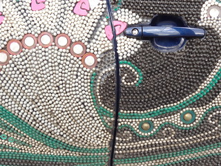 beaded art car side detail | by zen