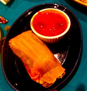 green corn tamale with sauce | by jayweston@sbcglobal.net